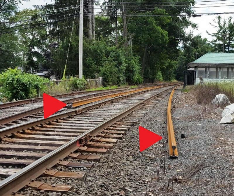 New Welded Track in place along the Housatonic Line