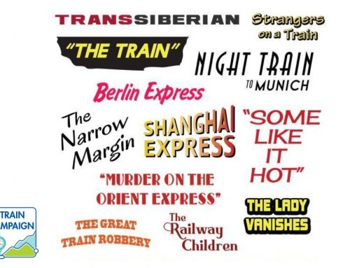 A list of nearly 30 train movies